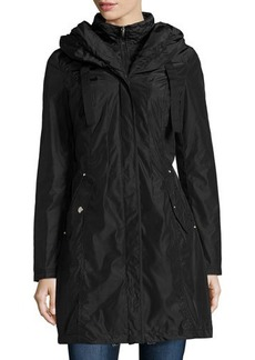 Laundry by Shelli Segal Detachable-Panel Hooded Rain Jacket