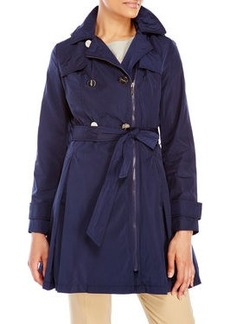 laundry by shelli segal Double-Breasted Belted Trench