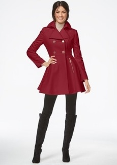 Laundry by Shelli Segal Double-Breasted Flared Peacoat