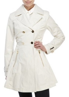 laundry by shelli segal Double-Breasted Flared Trench Coat