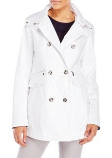 laundry by shelli segal Double-Breasted Hooded Jacket