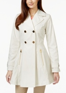 Laundry by Shelli Segal Double-Breasted Skirted Trench Coat
