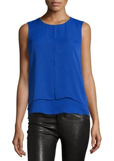 Laundry by Shelli Segal Double-Layer Front-Slit Tank