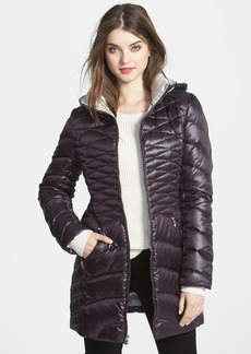 Laundry by Shelli Segal Down & Feather Walking Coat with Removable Hood (Online Only)