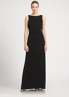 Laundry by Shelli Segal Drape-Back Glitzy Gown
