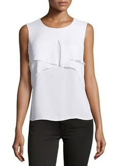 Laundry by Shelli Segal Drape-Front Sleeveless Blouse