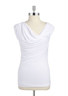 LAUNDRY BY SHELLI SEGAL Draped Cowlneck Top