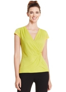 Laundry by Shelli Segal Draped Faux-Wrap Top