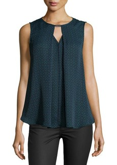 Laundry by Shelli Segal Draped Keyhole Top