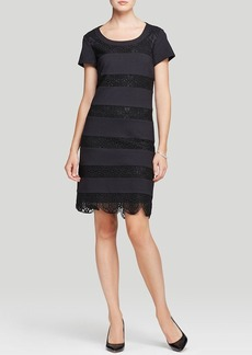 Laundry by Shelli Segal Dress - Bumble Bee Short Sleeve Lace Shift