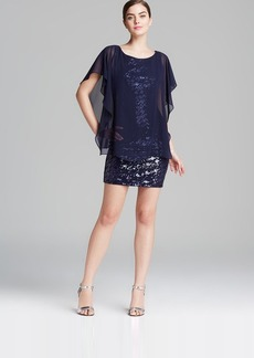 Laundry by Shelli Segal Dress - Chiffon Overlay Sequin Skirt