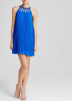 Laundry by Shelli Segal Dress - Cutout Beaded Pleated Trapeze