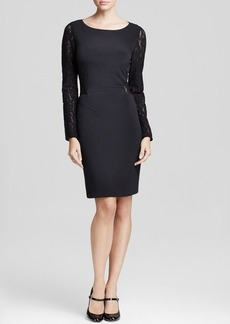 Laundry by Shelli Segal Dress - Lace Contrast Seam