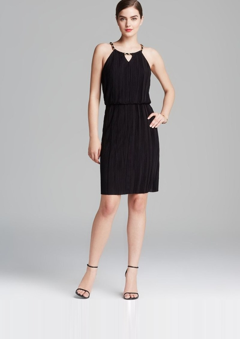 Laundry by Shelli Segal Dress - Necklace Blouson & Pleated Skirt