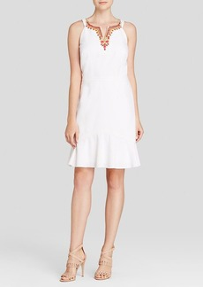 Laundry by Shelli Segal Dress - Sleeveless Beaded Neck Flounce Hem