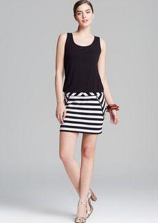 Laundry by Shelli Segal Dress - Sleeveless Blouson Jersey Stripe Skirt