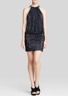 Laundry by Shelli Segal Dress - Sleeveless Blouson Metallic Knit