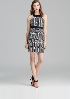 Laundry by Shelli Segal Dress - Sleeveless Geometric Print Sheath
