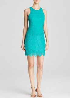 Laundry by Shelli Segal Dress - Sleeveless Scalloped Lace Sheath