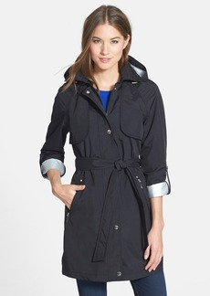 Laundry by Shelli Segal 'Drip Drop' Hooded Trench Coat