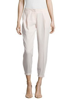 Laundry by Shelli Segal Elastic-Hem Relaxed-Leg Pants, Silver Peony