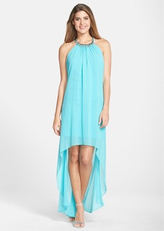 Laundry by Shelli Segal Embellished Chiffon Gown