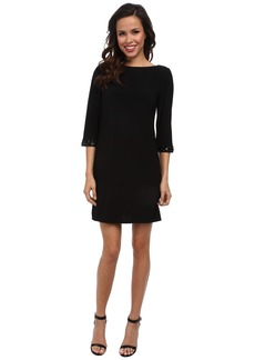 Laundry by Shelli Segal Embellished Cuff Dress w/ Keyhole Back