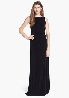 Laundry by Shelli Segal Embellished Drape Back Gown (Petite)