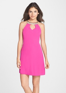 Laundry by Shelli Segal Embellished Georgette A-Line Dress