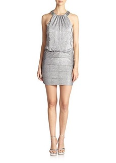 Laundry by Shelli Segal Embellished Jewelneck Dress