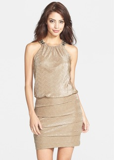 Laundry by Shelli Segal Embellished Knit Blouson Dress