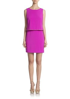 Laundry by Shelli Segal Embellished Layered Dress