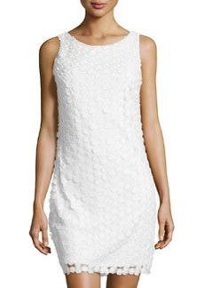 Laundry by Shelli Segal Embellished Mesh Tank Dress, Optic White