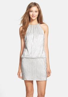Laundry by Shelli Segal Embellished Metallic Blouson Dress