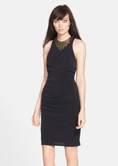 Laundry by Shelli Segal Embellished Neck Racerback Dress