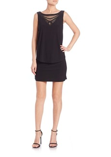Laundry by Shelli Segal Embellished Popover Jersey Dress