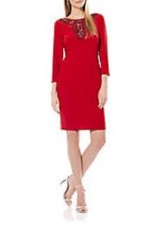 LAUNDRY BY SHELLI SEGAL Embellished Sheath Dress