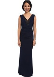 Laundry by Shelli Segal Embellished V-Neck Gown