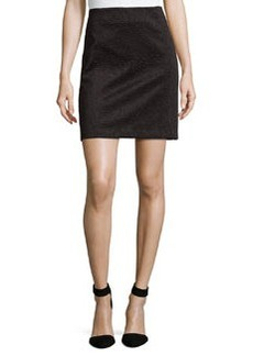 Laundry by Shelli Segal Embossed Scuba Pencil Skirt, Black