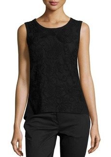 Laundry by Shelli Segal Embroidered Combo Tank