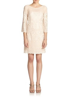 Laundry by Shelli Segal Embroidered Lace A-Line Dress