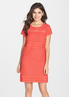 Laundry by Shelli Segal Embroidered Mesh Shift Dress