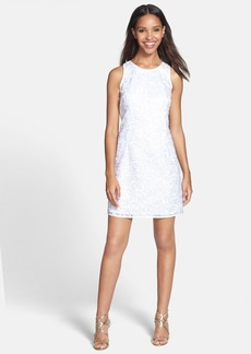 Laundry by Shelli Segal Embroidered Organza Dress
