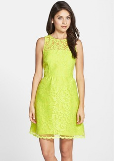 Laundry by Shelli Segal Embroidered Organza Fit & Flare Dress