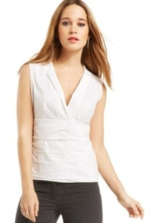 Laundry by Shelli Segal Empire Deep-v-Neck Shirt