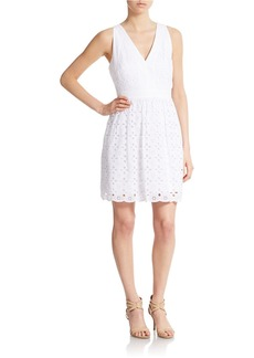 LAUNDRY BY SHELLI SEGAL Eyelet Fit and Flare Dress