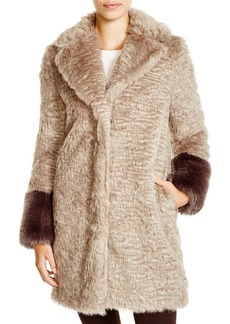 Laundry by Shelli Segal Faux Fur Blanket Coat