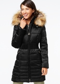 Laundry by Shelli Segal Faux-Fur-Hood Down Puffer Coat