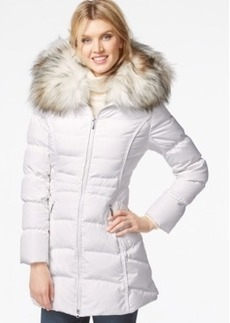 Laundry by Shelli Segal Faux-Fur-Hood Puffer Down Coat