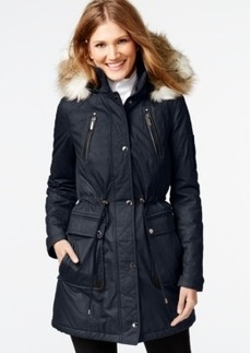 Laundry by Shelli Segal Faux-Fur-Trim Parka